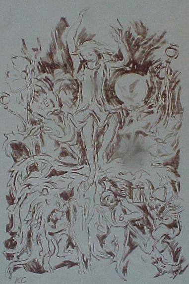 Karl Caspar - Sommernachtstraum, Lithographie 1917/18 kopen? Bied vanaf 30!