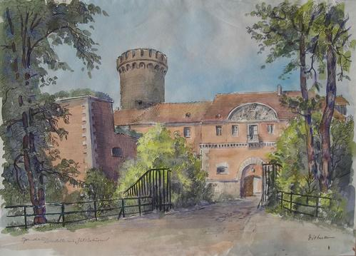 Alfred Karl Dietmann - Spandau, Zitadelle mit Juliusturm, Aquarell kopen? Bied vanaf 170!