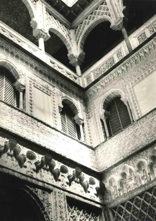 Paul W. John - SPANIEN: SEVILLA HOFFRONT im ALCAZAR Handabzug des berühmten Fotographen um 1935 - VINTAGE kopen? Bied vanaf 65!