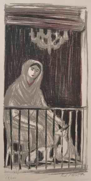Rudolf Moser - SPANIERIN am FENSTER - handsignierte OriginalFarblithographie des SCHWEIZER Künstlers kopen? Bied vanaf 65!