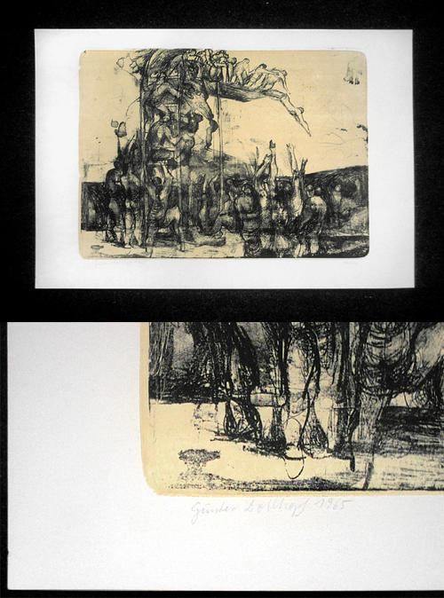 Günter Dollhopf - (Sprungturm), Farblithographie, 1965. kopen? Bied vanaf 70!
