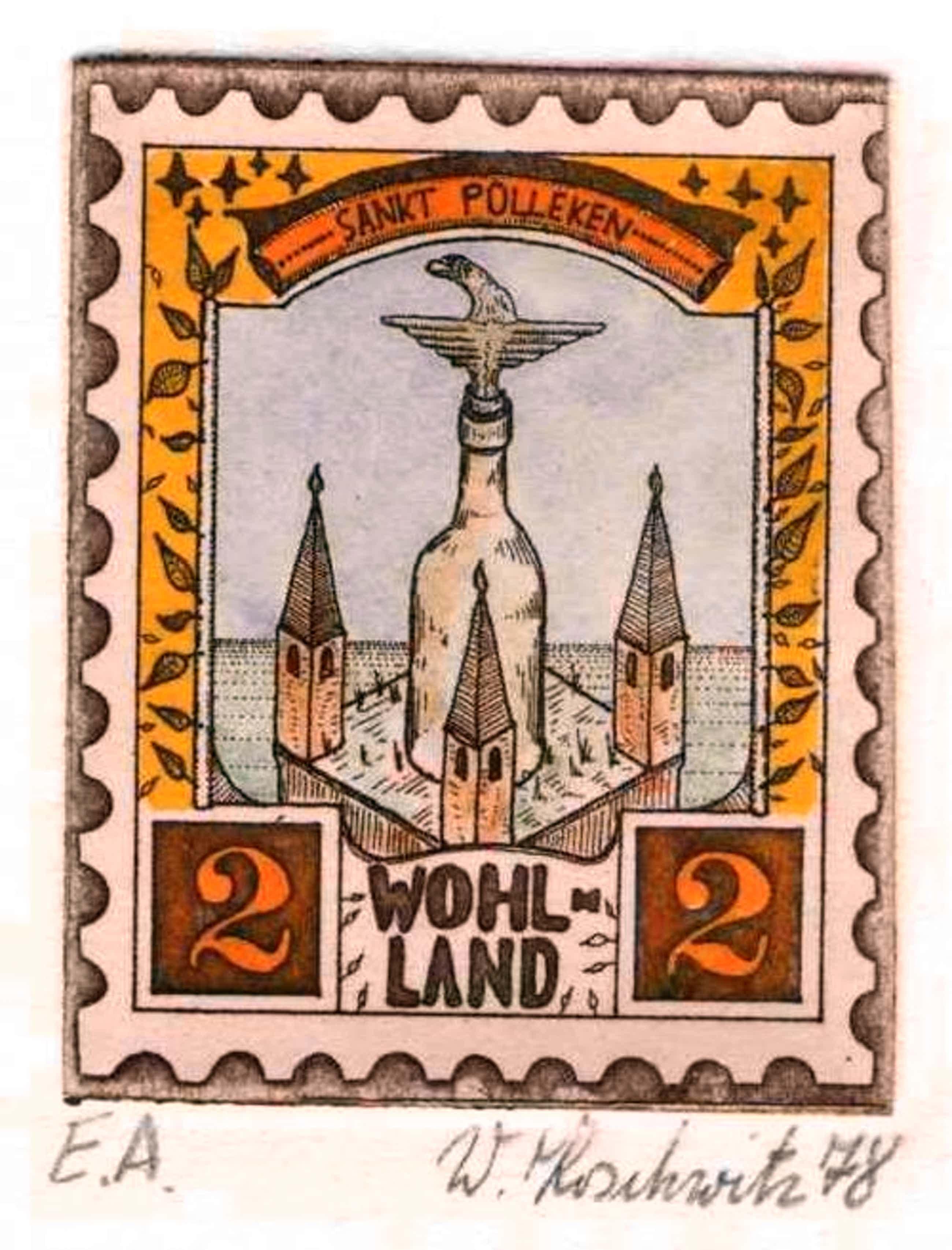 Walter Koschwitz - St. PULLEKEN 1978 - HandSignierte OriginalRadierung des BERLINer KRITISCHEN REALISTENs kopen? Bied vanaf 28!