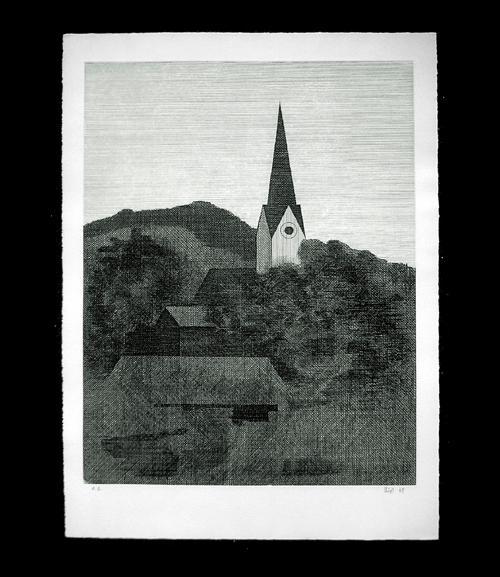 Helmut Süss - Stadtlandschaft. Radierung, 1969. kopen? Bied vanaf 30!
