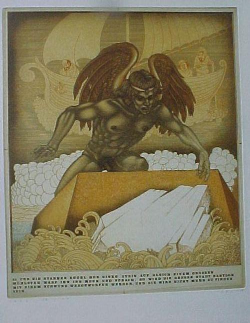 Marjan Vojska - Starker Engel. Einzelblatt aus Mappe Babylon, siehe Los 69848 kopen? Bied vanaf 50!