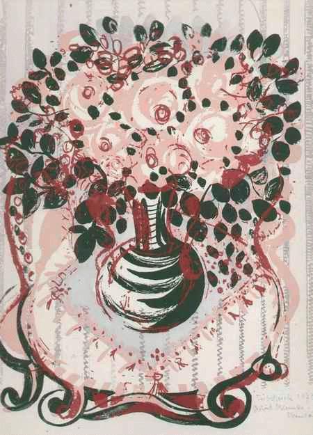 Gertrud Klemke-Stremlau - Stilleben mit BLUMENVASE - handsignierter OriginalSiebdruck der Gattin von Prof. Werner KLEMKE 1973 kopen? Bied vanaf 65!
