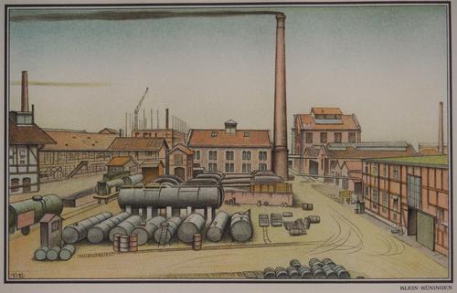 Niklaus Stoecklin - Stoecklin, Lithographie, Klein-Hüningen kopen? Bied vanaf 30!