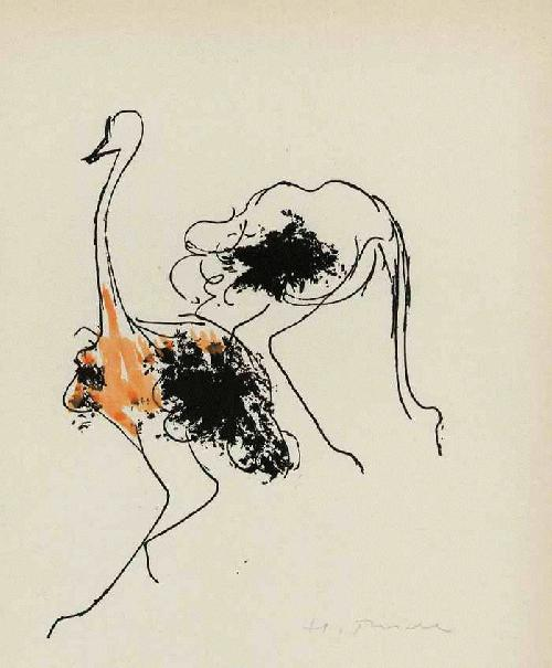 Herbert Thiele - STRAUSSE -1949 Handsigniertes Portrait des KOLB & THIEMANN-Meisterschülers & Illustratoren a.ZWICKAU kopen? Bied vanaf 55!
