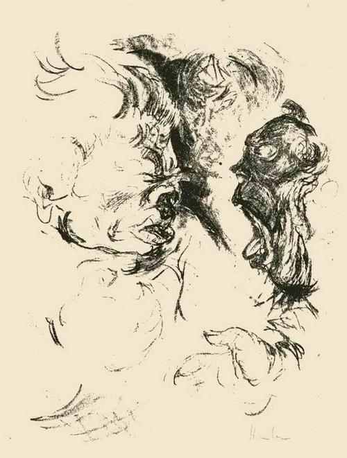 Fritz Heubner - STREITHAMMEL - Handsignierte Originallithographie des SIMPLICISSIMUS/JUGEND-Illustratoren 1923 kopen? Bied vanaf 45!