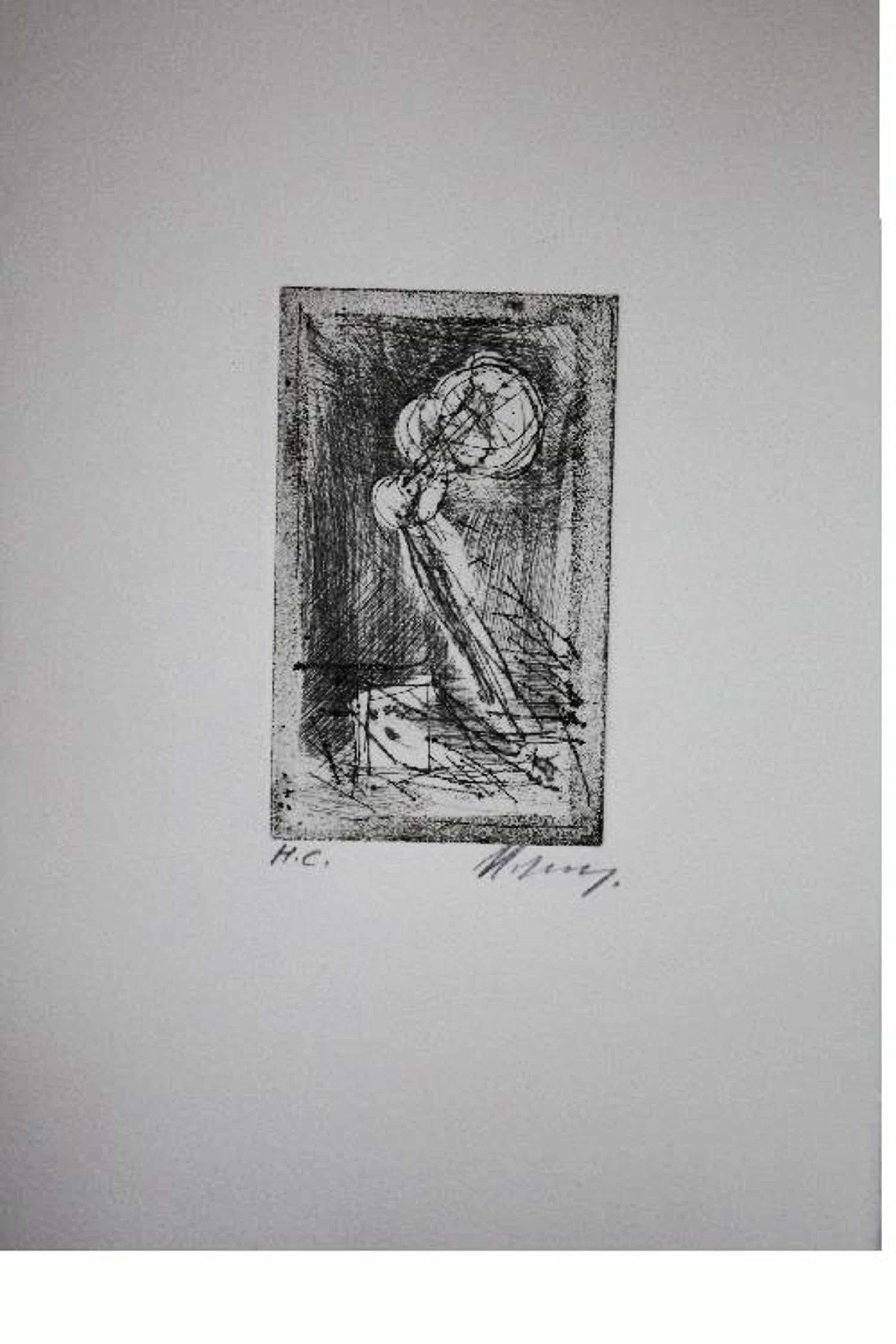 Rudolf Hoflehner - Studie III - Radierung auf Büttenpapier, handsigniert, bezeichnet mit H.C., 1965 kopen? Bied vanaf 190!