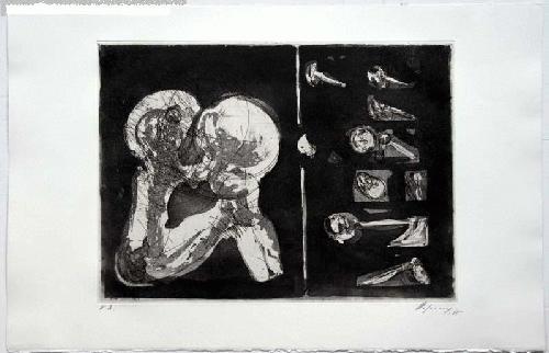 Rudolf Hoflehner - - STUDIE I - Radierung auf Büttenpapier, handsigniert, bezeichnet, 1965 kopen? Bied vanaf 390!