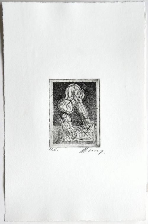 Rudolf Hoflehner - Studie IV - Radierung auf Bütten,handsigniert, bez. mit H.C., 1965 kopen? Bied vanaf 190!