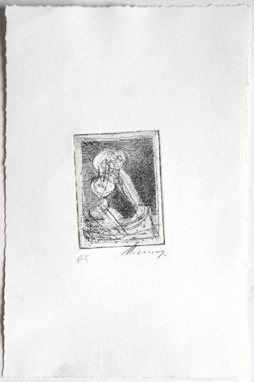 Rudolf Hoflehner - Studie V - Radierung auf Büttenpapier, handsigniert, bezeichnet, 1965 kopen? Bied vanaf 190!
