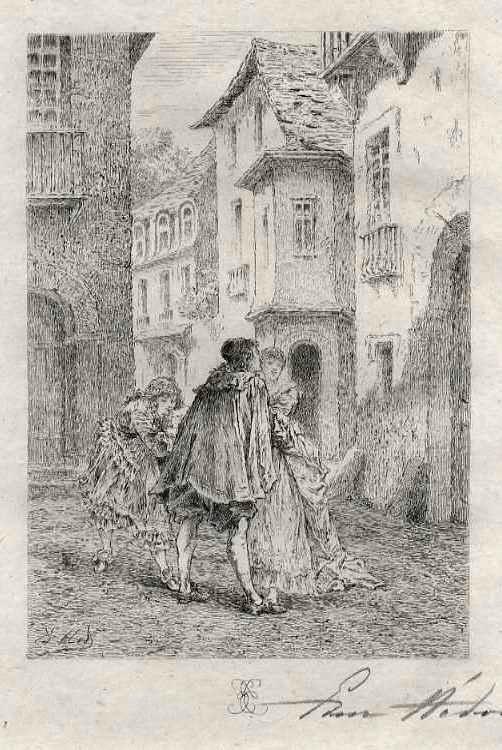 Edmond Hèdouin - SÜßE WORTE der BETÖRUNG - Handsignierte OriginalRadierung - EauForte Originale signée au Crayon kopen? Bied vanaf 39!