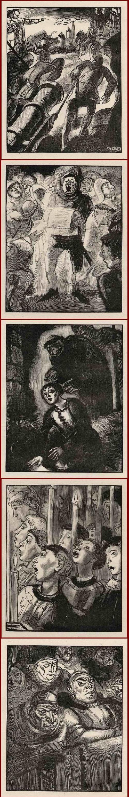 Edouard Lèon  Louis Legrand - Suite von 20 OriginalHolzschnitten -Illustrationen zu Johanna von ORLÉAN - 1928 - im Stock signiert kopen? Bied vanaf 65!