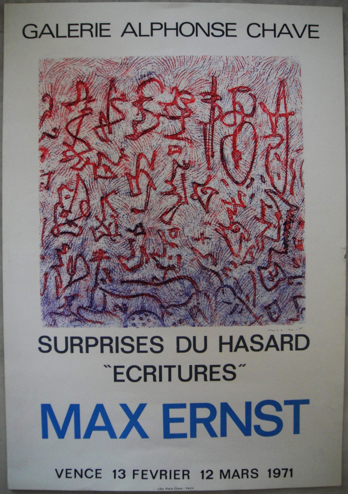"Max Ernst - Surprises du Hasard, ""Ecritures""; originale Lithographie von 1971, handsigniert kopen? Bied vanaf 290!"