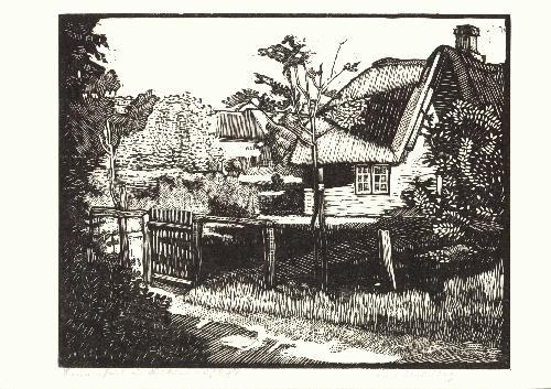 """Kurt Naudieth - Sylter Bauernhaus Keitum um 1930 sign. u. bez. - siehe Buch """"Künstlerinsel Sylt"""" kopen? Bied vanaf 48!"""