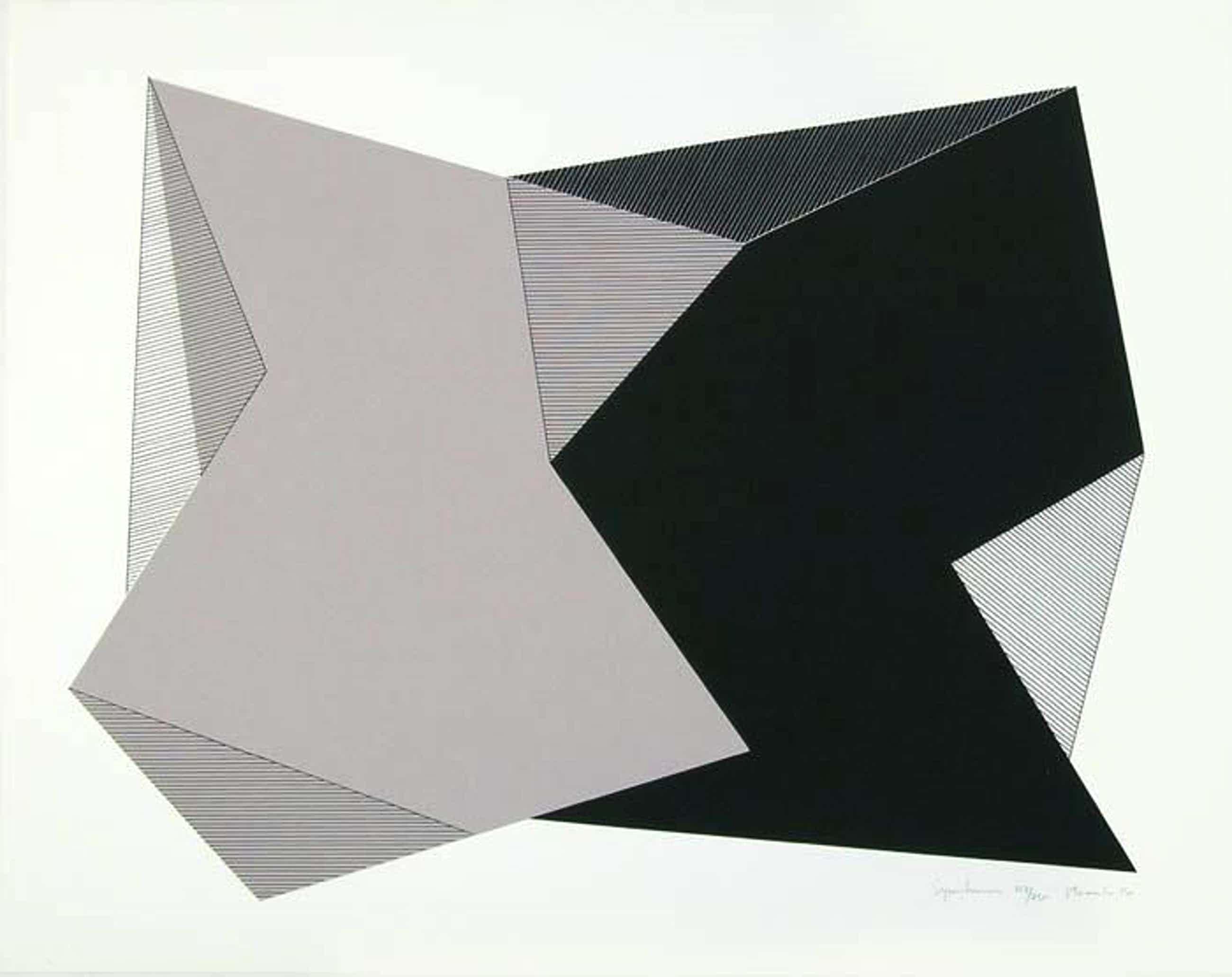 Jean Marie Haessle - Symetrics, Serigraphie, 1980, signiert, nummeriert kopen? Bied vanaf 60!