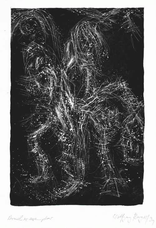 Wolfgang Berger - - TANZENDE - handsignierte OriginalLithographie des Malers und Autoren 1991 - LEIPZIGER BLAUE REITER kopen? Bied vanaf 65!