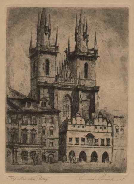 Bruno Reinhold - TEYNKIRCHE in PRAG - Handsignierte & titulierte OriginalRadierung des DDR-BERLINers (geb. 1891) kopen? Bied vanaf 32!