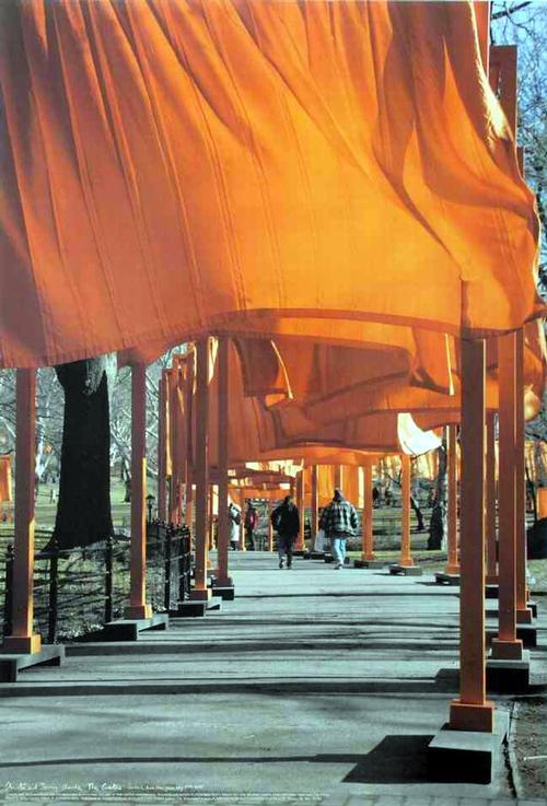 Wolfgang Volz - The GATES - NEW YORK - CENTRAL PARK 2005 - CHRISTO und JEANNE-CLAUDE Farboffset nach der Fotografie kopen? Bied vanaf 50!