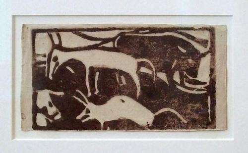 Christan Rohlfs - Tiere auf der Weide Holzschnitt 1921 kopen? Bied vanaf 1370!
