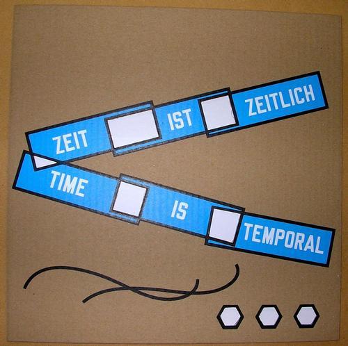 Lawrence Weiner - Time is Temporal - Siebdruck auf ausgestanztem Karton, handsigniert kopen? Bied vanaf 350!