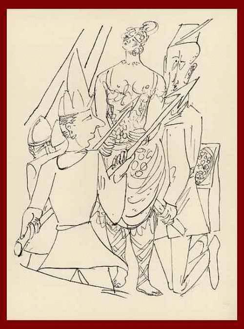 Max Beckmann - TRABANTEN - Des GEGENKAISERS ZELT - OriginalHolzstich 1957 mit dem Prägestempel der BlattNummer 27 kopen? Bied vanaf 54!