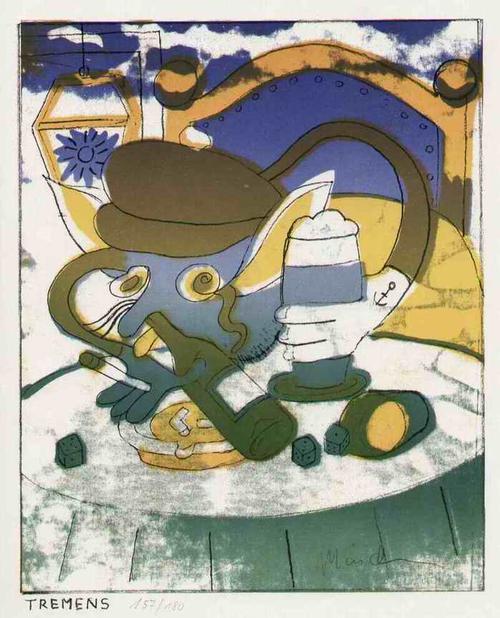 Artur Märchen - TREMENS - Handsignierte OriginalFarblithographie des MALERPOETEN aus BERLIN - 1966 kopen? Bied vanaf 68!