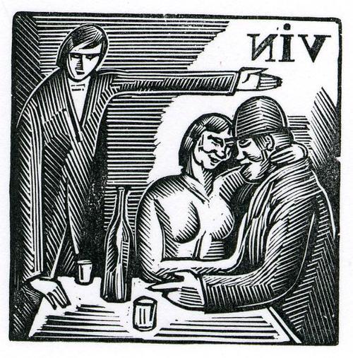Wassilij Masjutin - TRINKGENOSSEN - 1920 - OriginalHolzschnitt des BERLINer RUSSEN aus WEIN, KARTEN & FRAUEN kopen? Bied vanaf 29!