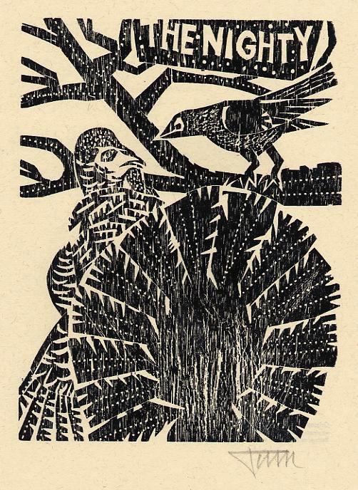 Alfred Pohl - TRUTHAHN & NACHTIGALL - OriginalHolzschnitt handsigniert, 1984 - zu Sibille BRENNER Poesie kopen? Bied vanaf 35!