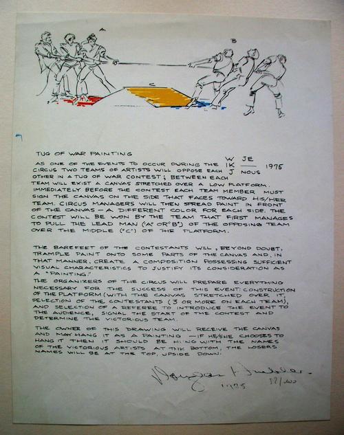 Douglas Huebler - TUG OF WAR PAINTING, 1975 kopen? Bied vanaf 295!