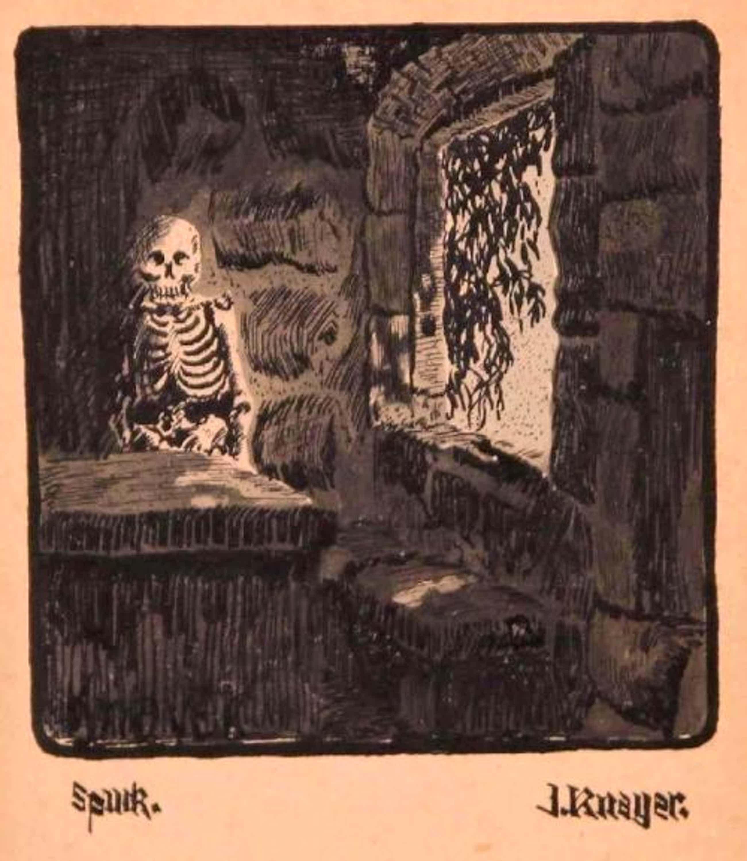 Immanuel Knayer - Tuschezeichnung auf Postkarte kopen? Bied vanaf 485!