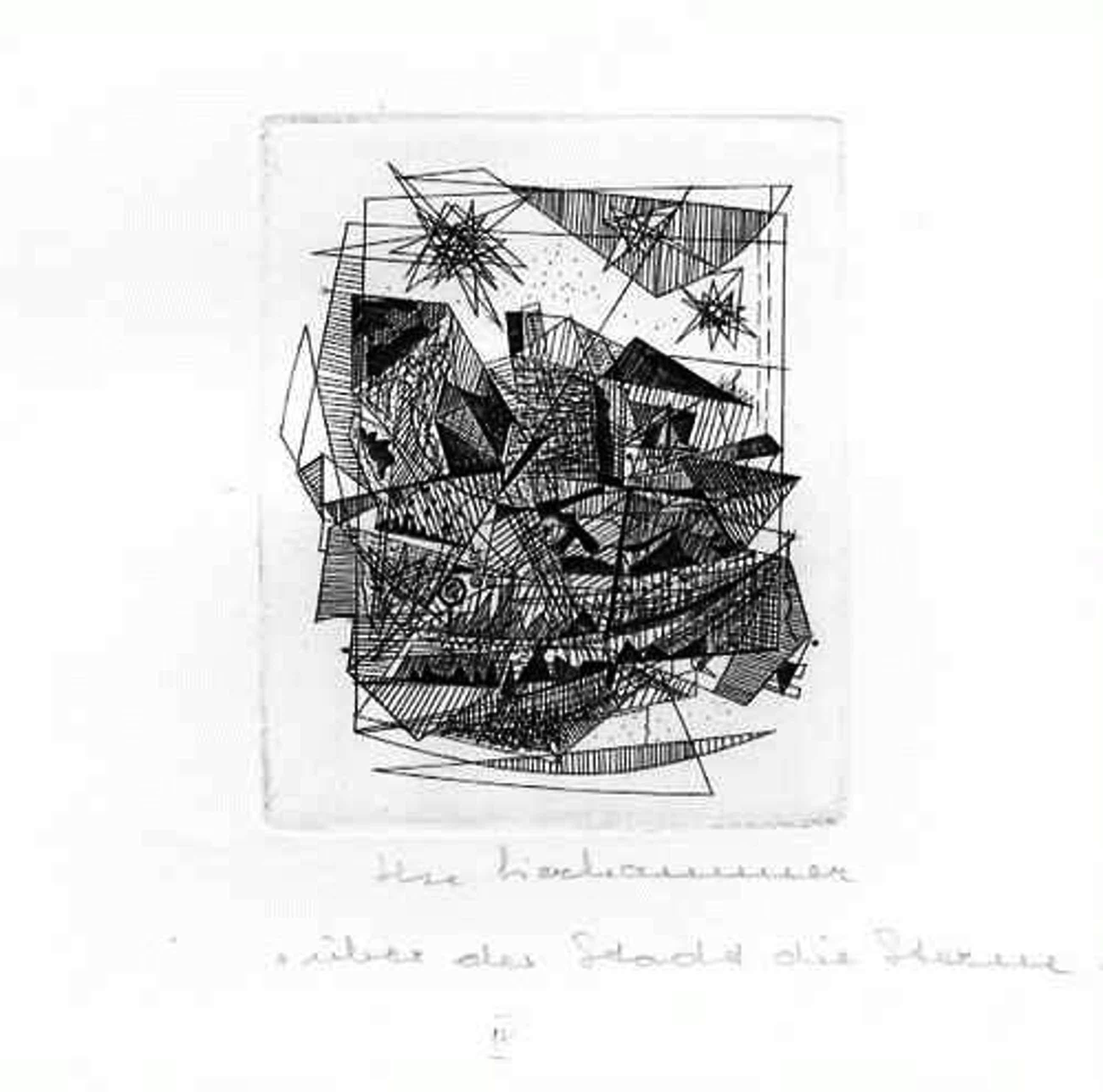 Ilse Lierhammer - Über der STADT die STERNE IV - Originalradierung der SCHWEIZER KÜNSTLERIN - handsigniert & tituliert kopen? Bied vanaf 30!