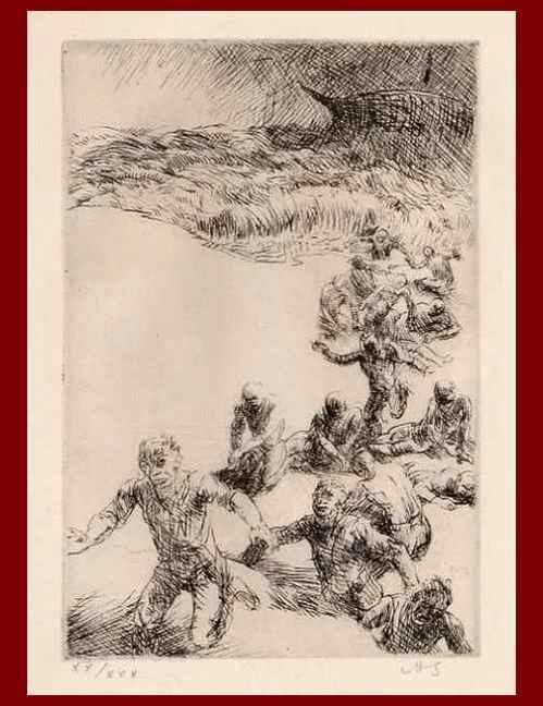Adolf Schinnerer - ÜBERLEBENDE e. SCHIFFBRUCHs - OriginalRadierung d.GRÜNDERs der NEUEN SEZESSION MÜNCHEN monogram.1921 kopen? Bied vanaf 95!