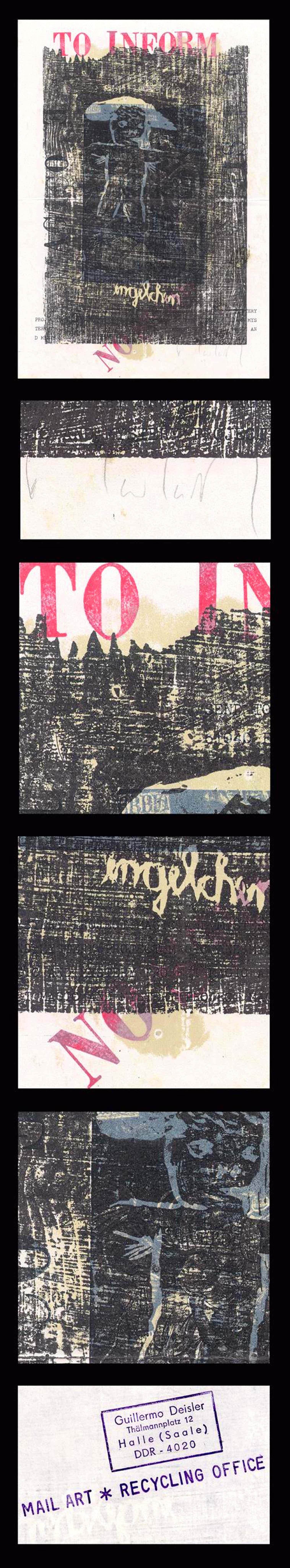 Guillermo Deisler - + Ulrich Tarlatt. Mail Art. DDR. kopen? Bied vanaf 120!
