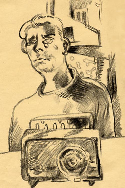 Holger Bunk - UNIKAT, Original-Bleistiftzeichnung auf Papier von 1981, handsigniert kopen? Bied vanaf 290!