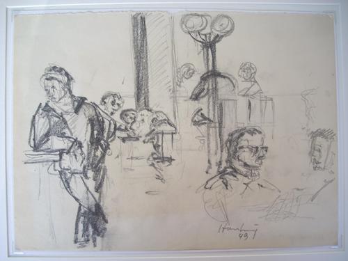 Karl Hartung - UNIKAT - Original-Bleistiftzeichnung von 1949, handsigniert und datiert kopen? Bied vanaf 390!