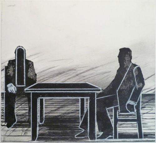 Joachim Palm - UNIKAT-Original-Zeichnung/Kreide/Gouache/Kohle auf Papier, 1976, handsigniert und datiert kopen? Bied vanaf 295!
