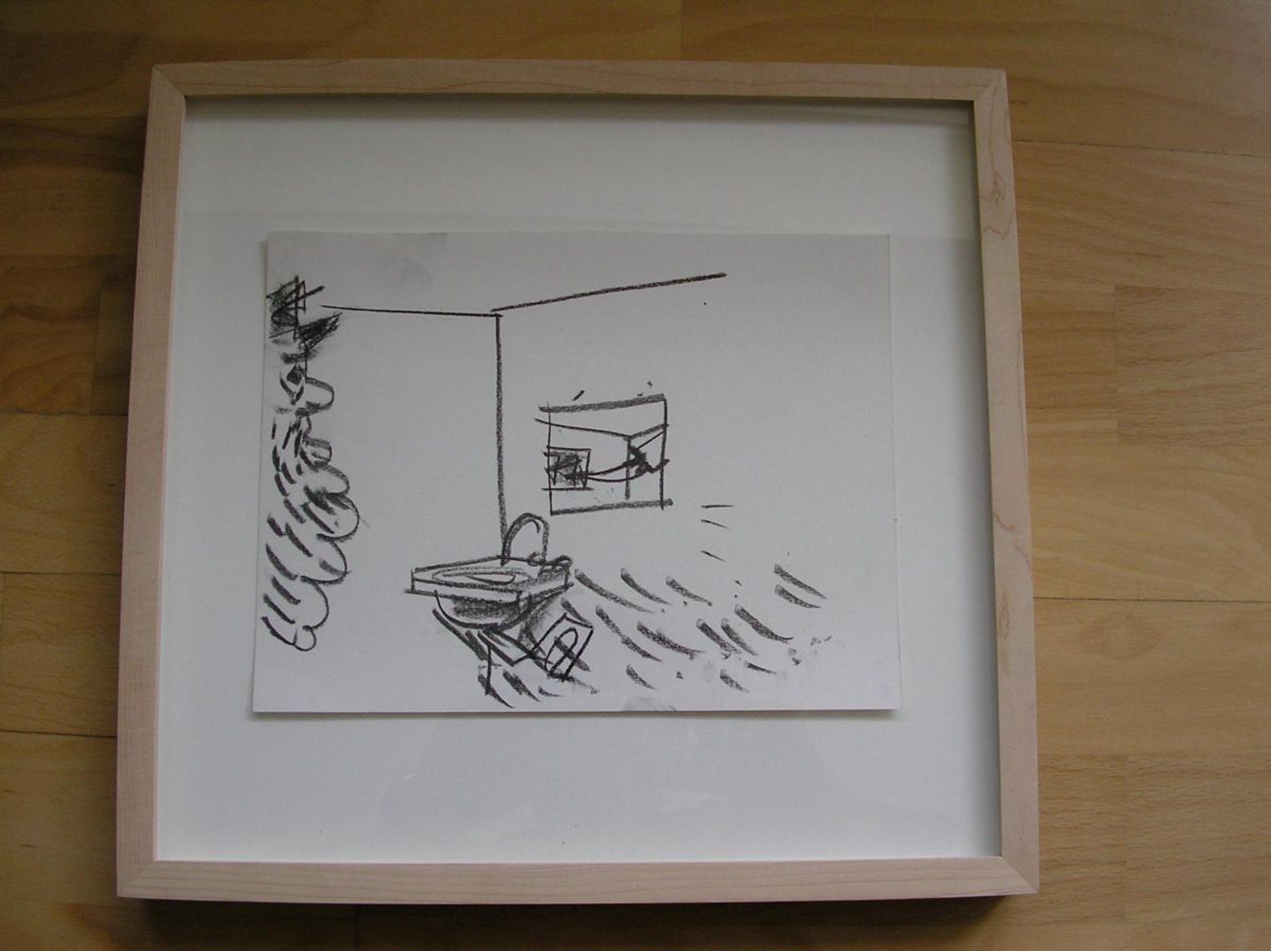 Matthias Weischer - Matthias Weischer, Untitled, 2004, Zeichnung auf Karton, signiert, WVZ 231 kopen? Bied vanaf 999!