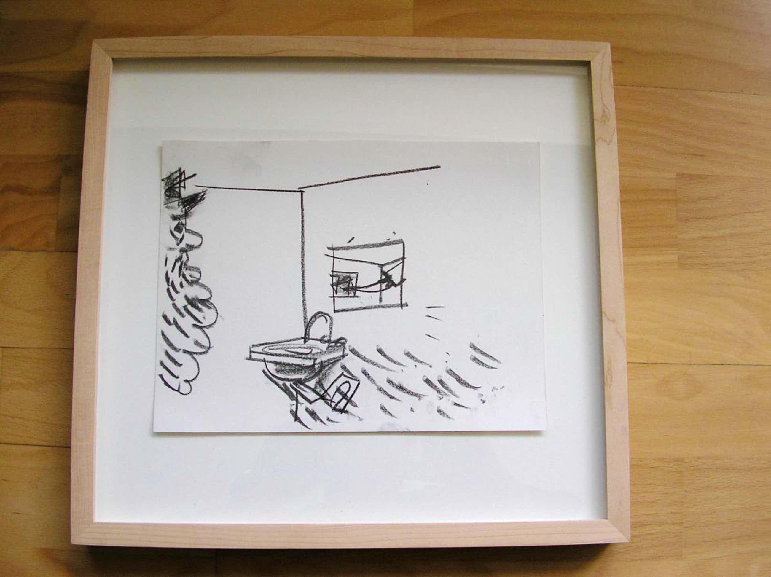 Matthias Weischer - Matthias Weischer, Untitled, 2004, Zeichnung auf Karton, signiert, WVZ 231 kopen? Bied vanaf 900!