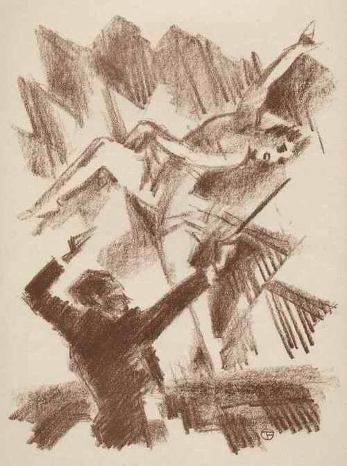 Gino Von Finetti - VARTIETÉ TÄNZERIN - OriginalLithographie des SIMPLIZISSIMUS-Illustratoren aus BERLIN - 1925 kopen? Bied vanaf 68!