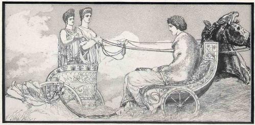 Max Klinger - VENUS der JUNO und CERES BEGEGNEND OriginalRadierung aus dem Zyklus AMOR und PSYCHE 1880 - Singer 90 kopen? Bied vanaf 110!