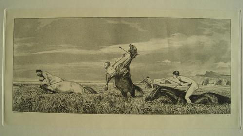 Max Klinger - Verfolgter Centaur, Radierung aus Opus Intermezzi 1879/81 kopen? Bied vanaf 180!