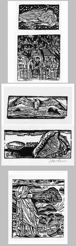 Klaus Eberlein - VERKÜNDIGUNG - MONTAGNOLA - HISTRIA - 5 OriginalHolzSchnitte d. MÜNCHNER Künstlers 1976 handsigniert kopen? Bied vanaf 29!