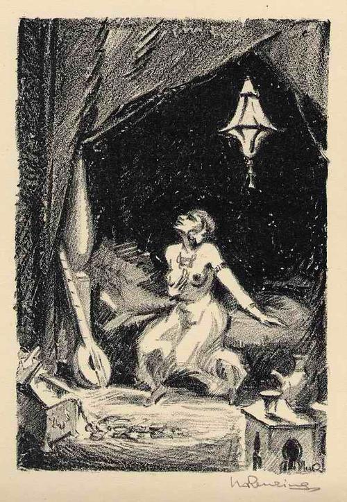 Walther Albert Renzing - VERZWEIFLUNG - Weiblicher Halbakt - Handsignierte OriginalLithographie zu Arnolds TALIB - 1925 kopen? Bied vanaf 45!