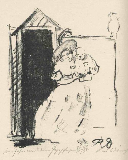 Rudolf Odebrecht - VIER JAHRE WAR DER PAPA GEFANGEN - 1925 - Handsignierte & titulierte OriginalLithographie kopen? Bied vanaf 65!