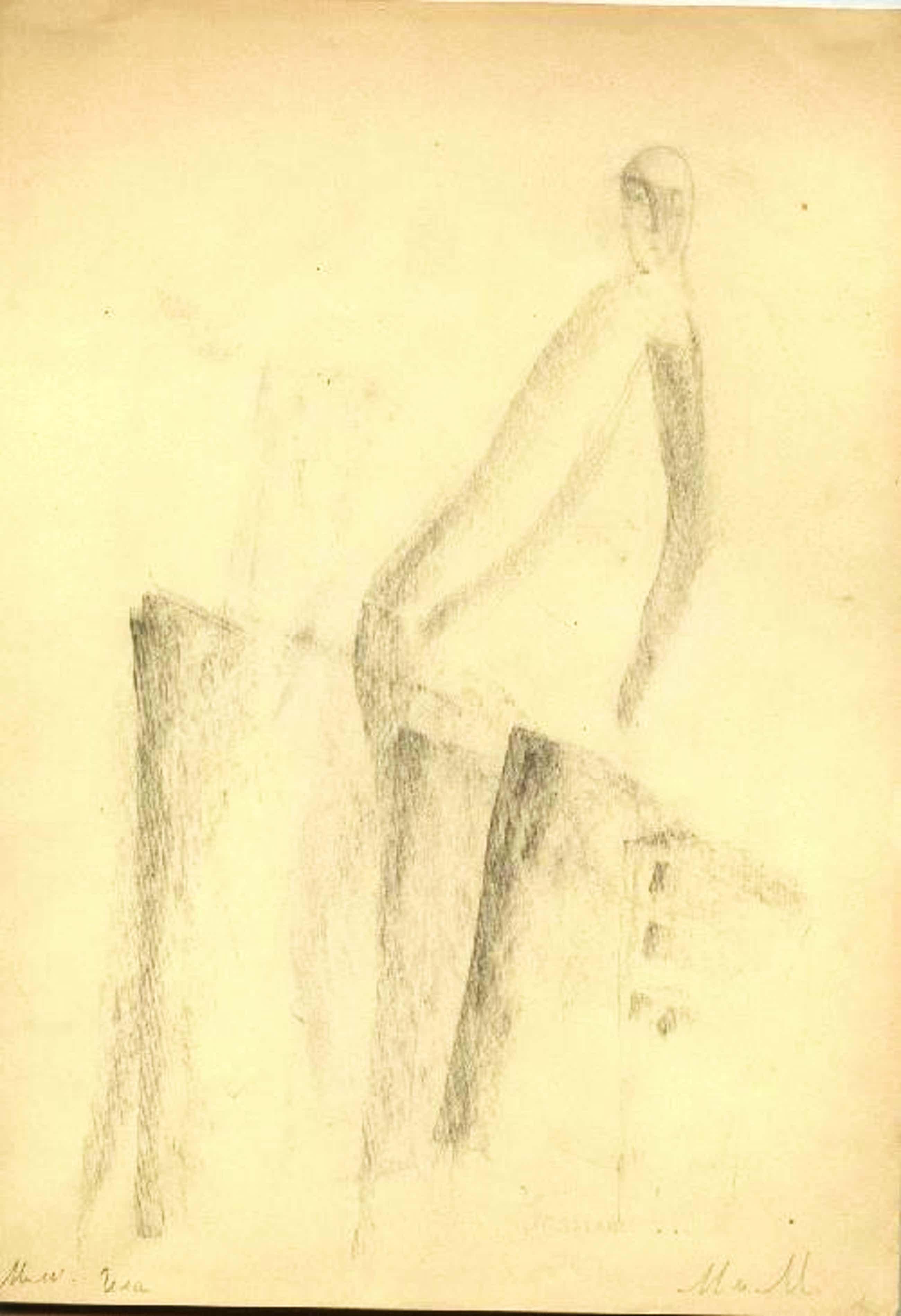 A. Korsakowa - Vier Zeichnungen A. K. monogr. Korsakowa Alexandra Nikolajewna kopen? Bied vanaf 1500!