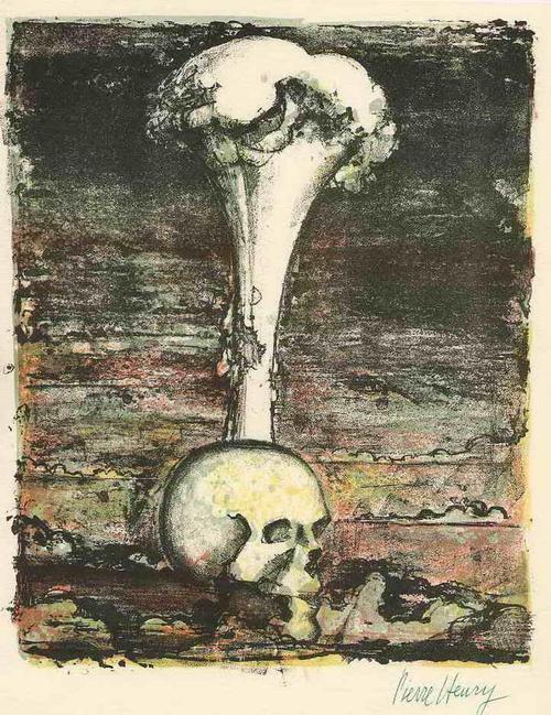 Pierre Henry - VISION vom NUKLEAREN HOLOCAUST - 1962 - Handsignierte OriginalLithographie auf ARCHES-Bütten kopen? Bied vanaf 55!