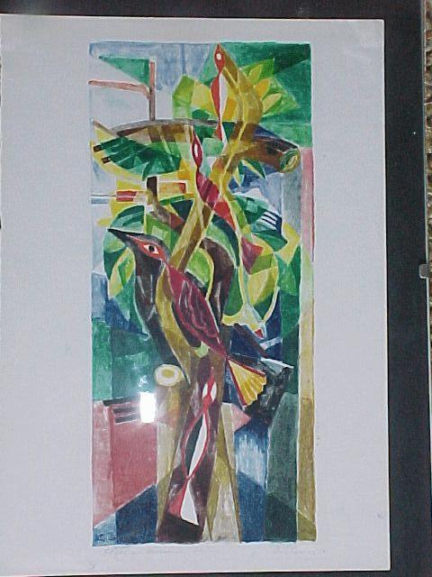 Ernst Weiers - Vögel im .... Baum., Farb. Litho. 1950 kopen? Bied vanaf 80!