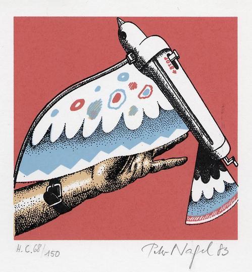 Peter Nagel - VOGELAUTOMAT zum aufziehen - Handsignierte & num. Serigraphie des GRUPPE ZEBRA Künstlers aus KIEL kopen? Bied vanaf 65!